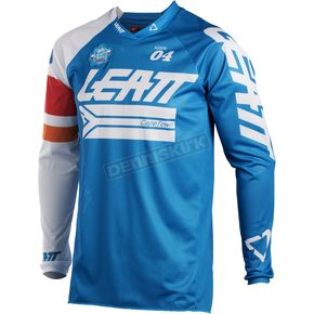 Leatt Blue/White GPX 4.5 X-Flow Jersey - 5018700231