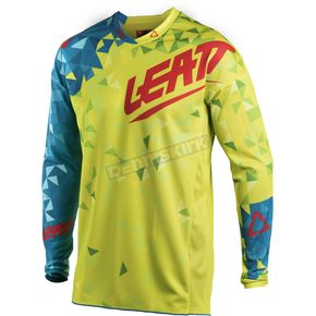 Leatt Junior/Kids Lime/Teal GPX 2.5 Jersey - 5018700274