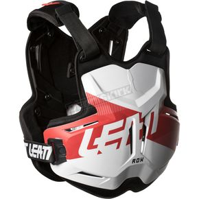 Leatt White/Red 2.5 Rox Chest Protector - 5018100100