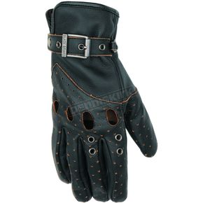 Black Brand Women's Black Vintage Venom Gloves - BB7062