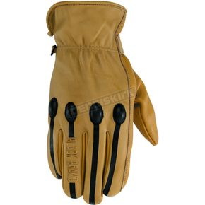 Black Brand Tan Retro Gloves - BB7250