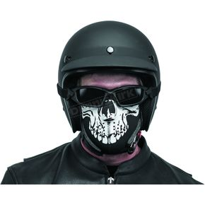 Black Brand Skull Neoprene Half-Face Mask - BB9804