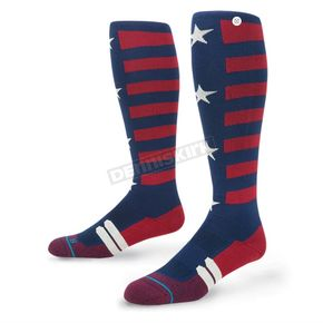 Stance Navy/Red Liberty Moto MX Socks - M755A16LIB-MD