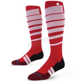 Stance Red Groove MX Socks - M755A16GRO-RD-MD