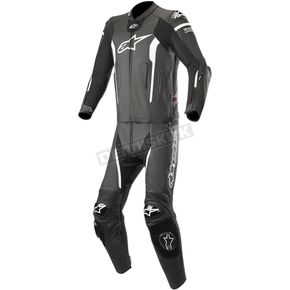 Black/White Missile Two-Piece Leather Suit