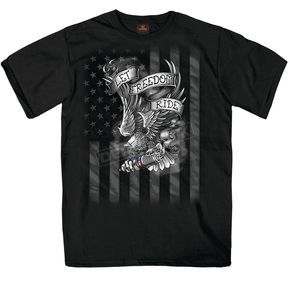 Black Let Freedom Ride T-Shirt - GMS1422XXL