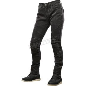 Women's Black Street Savvy Moto Pants
