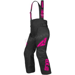 Youth Black/Fuchsia Clutch Pants