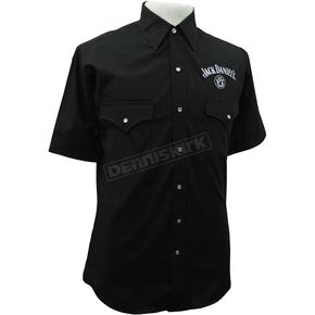 Black Solid Button Up Shirt