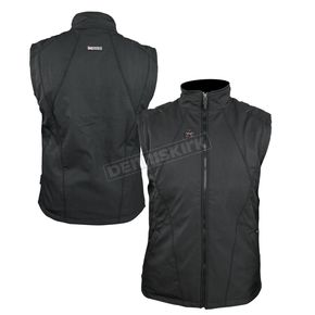 Black 12V Dual Power Heated Vest