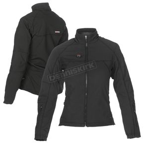 Women's Black 12V Dual Power Heated Jacket