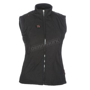 Women's Black 12V Dual Power Heated Vest