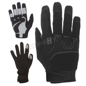 Black 7.4V Heated Workman Gloves