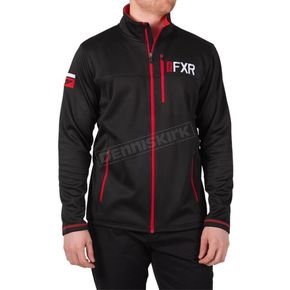 Black/Red Elevation Tech Zip Up