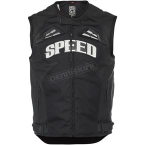 Black Insurgent Leather Vest - 1114-0507-0156