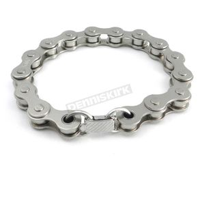Silver Nickle-Plated Steel Bike Chain Bracelet - A320B