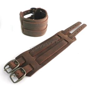 Brown Buckle Leather Cuff Bracelet - PV3209BRN