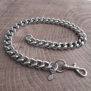 Chrome Cut Leash Chain Necklace - CH6