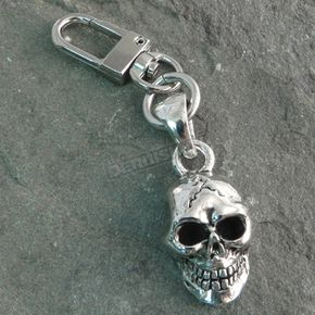 Chrome Skull XL Clip-On Pendant - K-SKULLXL
