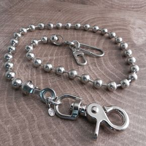 Chrome Ball Chain Wallet Chain - NC30