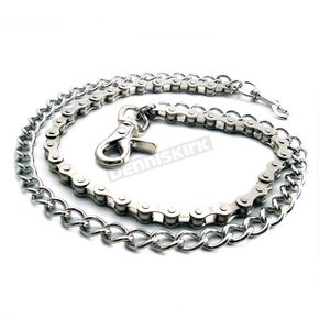 Chrome Bike Chain & Shackle Double Wallet Chain - NC200