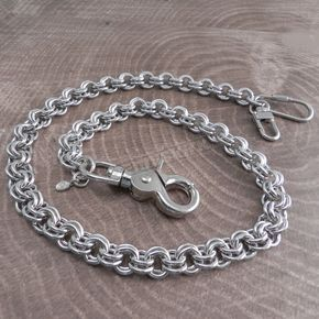 Chrome Double Ring Wallet Chain - NC78-25