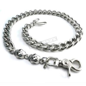 Chrome Monster Skull & Leash Wallet Chain - NC33-25SKXL