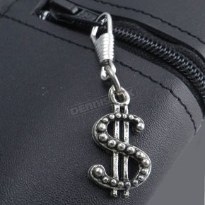 Antique Silver Dollar Sign Zipper Pull - Z-$