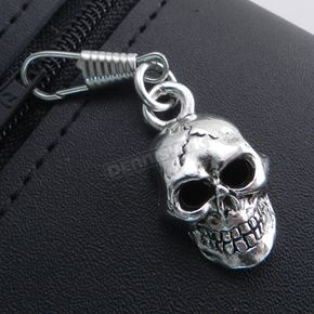 Antique Silver Skull XL Zipper Pull - Z-SKXL
