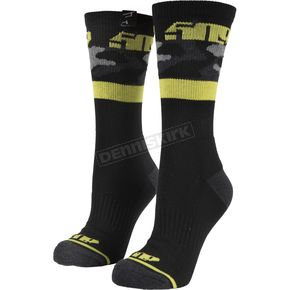 Black Camo Route 5 Casual Socks - F06000600-140-020