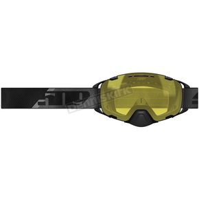 Black/Yellow Aviator 2.0 Fuzion Flow Goggles w/Yellow Tint Lens - F02006700-000-001