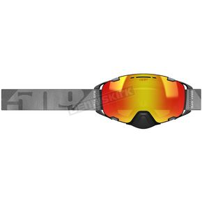 Gray Ops Aviator 2.0 Goggles w/Fire Mirror Light Rose HCS Tint Lens - F02005700-000-802