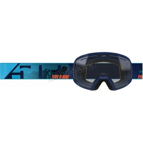 Youth Cyan/Navy Ripper 2.0 Goggles w/Clear Tint Lens - F02002201-000-201