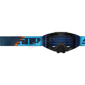 Cyan/Navy Sinister X6 Fuzion Flow Goggles w/Clear Tint Lens - F02006100-000-201