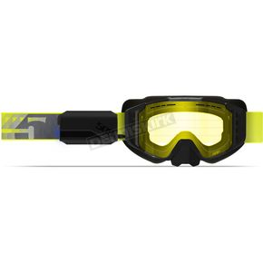 Lime/Gray Sinister XL6 Ignite Heated Goggles w/Yellow Tint Lens - F02003300-000-301
