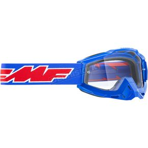 Blue Rocket Powerbomb Goggles w/Clear Lens  - F-50200-101-02