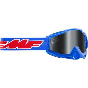 Rocket Blue Rocket Black Powerbomb Sand Rocket Goggles w/Smoke Lenses - F-50201-102-02