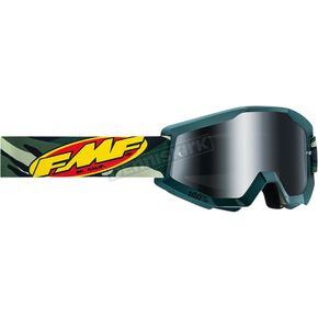 Assault Green Powercore Goggle w/Silver Lens - F-50400-252-08