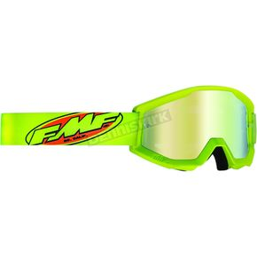 Core Fluorescent Yellow Powercore Goggles w/Green Lens - F-50400-259-04