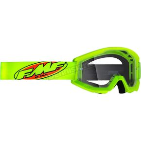 Youth Core Fluorescent Yellow Powercore Goggle w/Clear Lens  - F-50500-101-04