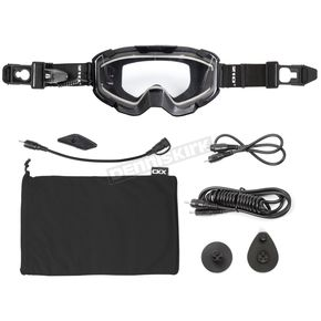 Black 210 Degree Trail Electric Goggles w/Clear Lens - 120400#