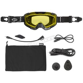 Black 210 Degree Trail Electric Goggles w/Yellow Lens - 120402#