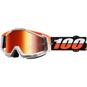 100% Ultra Sonic Racecraft Goggles w/Mirror Red Lens - 50110-176-02