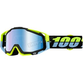 100% Antigua Racecraft Goggles w/Mirror Blue Lens - 50110-178-02