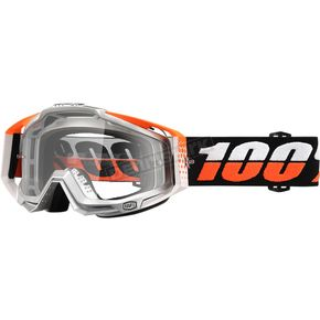 100% Ultra Sonic Racecraft Goggles w/Clear Lens - 50100-176-02