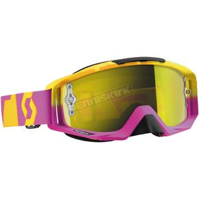 Scott Oxide Pink/Yellow Tyrant Goggles w/ Yellow Chrome Lens - 240585-4974289