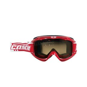 Castle X Red Launch Snow Goggles w/Yellow Lens - 64-1221