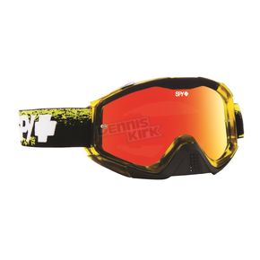 Spy Optic Masked Yellow Klutch Goggle w/Smoke/Red Spectra Lens - 322017716856