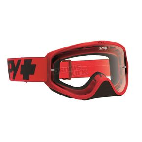 Spy Optic Mono Red Woot Goggle w/ Clear AFP Lens - 323346512100