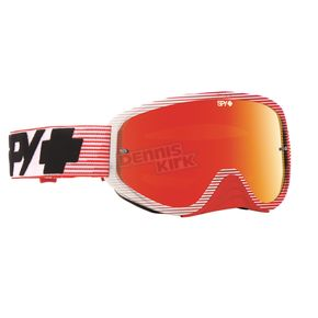 Spy Optic Red Flash Woot Race Goggle w/Smoke/Red Spectra Lens - 323346512856